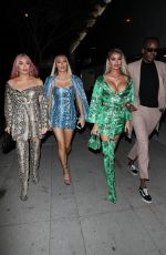 Chloe Sims , Demi Sims , and Frankie Sims are seen arriving with Vas J Morgan at Bootsy Bellows