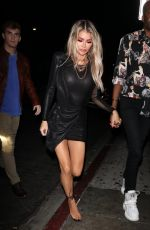 Chloe Sims Makes an outfit change as she spends the rest of the night partying at Poppy Nightclub in West Hollywood