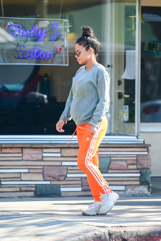 Christina Milian Is seen in casual look in Los Angeles