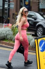 Christine McGuinness In Tights Out and About in Cheshire