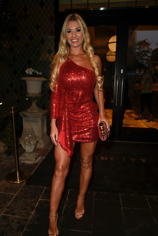 Christine McGuinness Puts on a leggy display as at the My glam Style Brunch at The Ivy Restaurant in Manchester