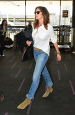 Cindy Crawford Keeps things simple yet stylish as she arrives at LAX