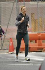 Claire Danes Works on her cardio with a run in New York