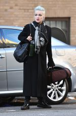 Cyndi Lauper Waits for a cab in New York City