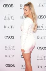 Danielle Sellers At The Beauty Awards with ASOS in London