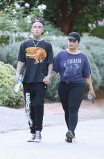 Demi Lovato Goes on a hike with her new boyfriend Austin Wilson in Studio City