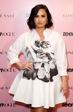 Demi Lovato Speaks on stage at the Teen Vogue Summit 2019 at Goya Studios