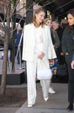 Dianna Agron Looks adorable in a white outfit