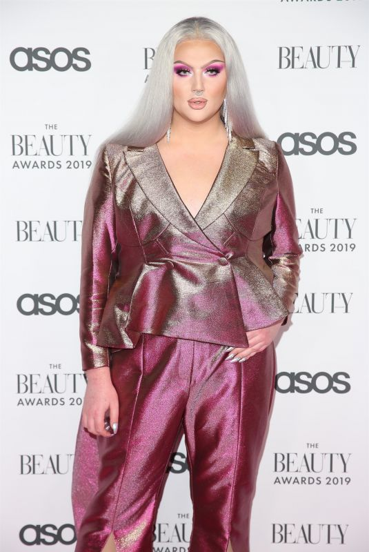 Ellis Hill At The Beauty Awards with ASOS in London
