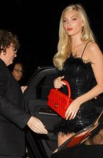 Elsa Hosk Arrives at the Boohoo party at Nightingale