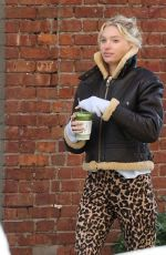 Elsa Hosk Strikes a pose while on a matcha run in NY