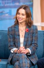 Emilia Clarke Visits This Morning in London