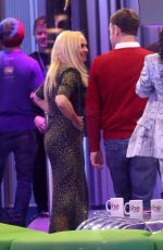 Emma Bunton Wears a figure-flattering dress on The One Show