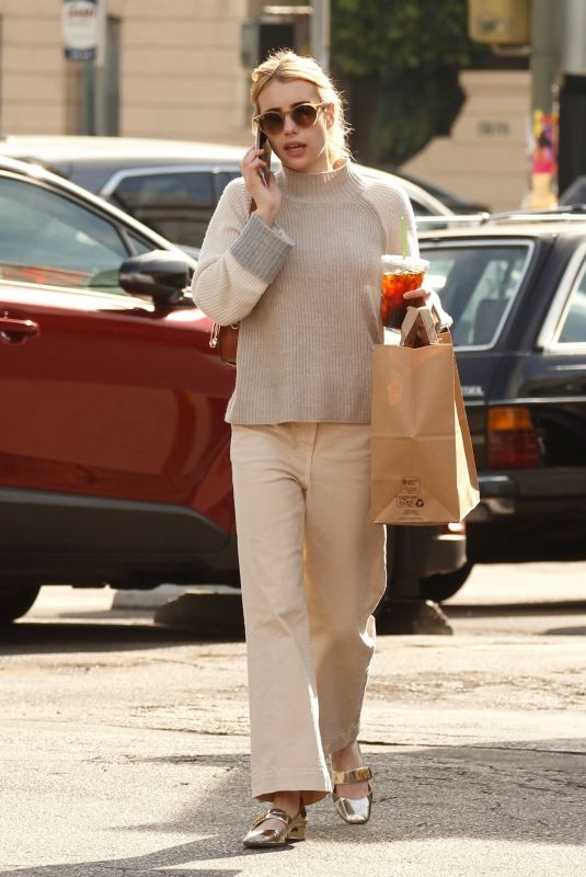 Emma Roberts Out for coffee in LA