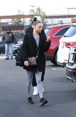 Emma Slater and other dance pros seen heading into the dance studio