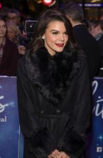 Faye Brookes Attend the White Christmas Musical press night at the Dominion Theatre, London