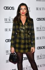 Francesca Allen At The Beauty Awards 2019 with ASOS City Central London