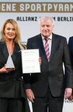 Franziska van Almsick At Goldene Sportpyramide Award in Berlin