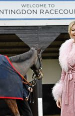 Georgia Toffolo At Winter Ladies Day At Huntingdon Racecourse