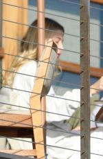 Hailey and Justin Bieber finish lunch for her 23rd birthday at Nobu