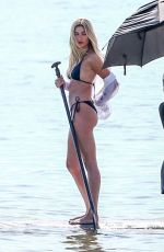 Hailey Baldwin At Photoshoot on the beach in Miami