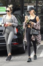 Hailey Baldwin Steps out for a green juice after hitting the gym in West Hollywood