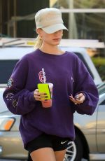 Hailey Bieber Leaves a gym in West Hollywood