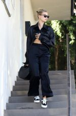 Hailey Bieber Leaves a West Hollywood