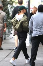 Hailey Bieber Steps out for lunch with a friend