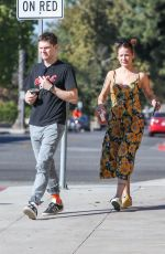 Halsey & Evan Peters Out in Burbank