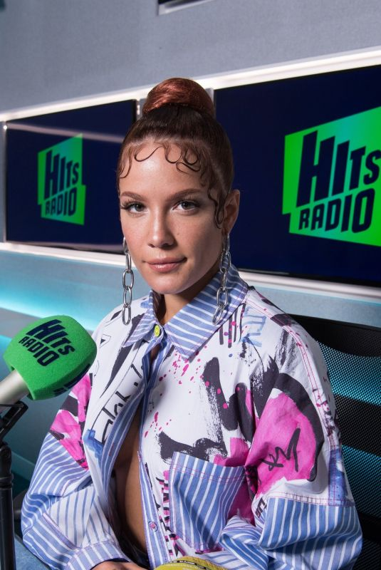 Halsey Visits Hits Radio in London