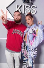 Halsey Visits KISS FM in London