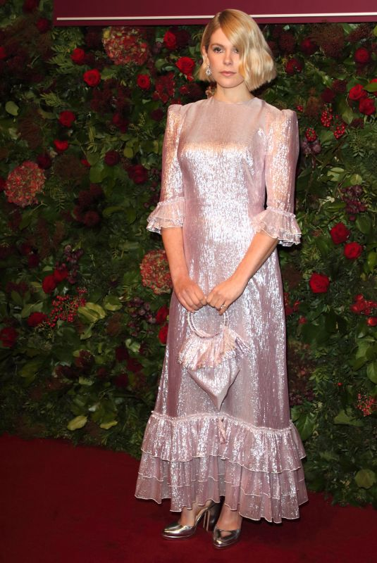 Hannah Arterton Attends the 65th Evening Standard Theatre Awards at the London Coliseum in London