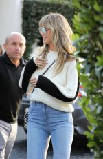 Heidi Klum and her hubby Tom Kaulitz leave and early dinner with their special pup guest