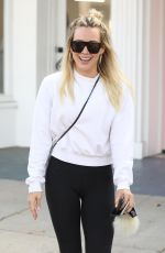 Hilary Duff Leaving a nail salon in Studio City