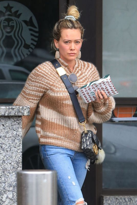 Hilary Duff Stops by her favorite nail salon for some pampering in West Hollywood