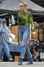 Hilary Duff Takes a break while filming Lizzie McGuire in Los Angeles