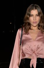 Imogen Thomas Arriving at the Arts club