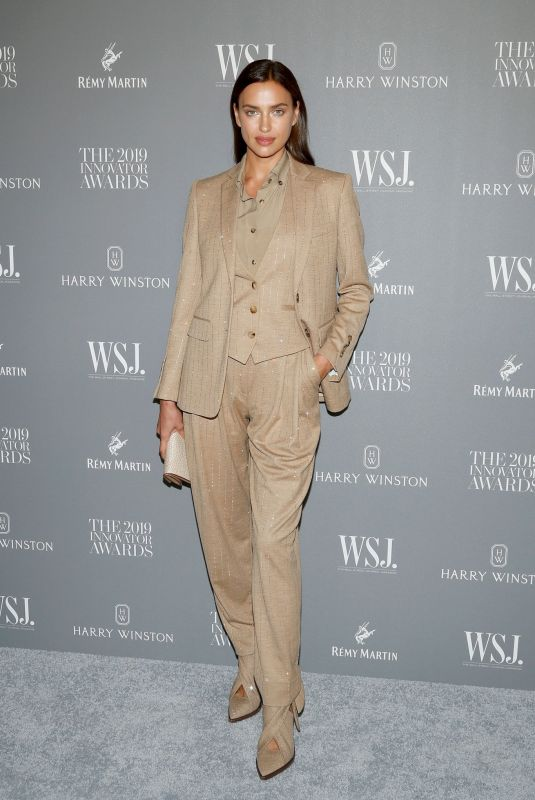Irina Shayk At WSJ. Magazine 2019 Innovator Awards sponsored by Harry Winston and Rémy Martinat MOMA in New York City