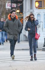 Irina Shayk During an outing with an unknown male companion on a brisk day in the Big Apple