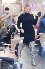 Iskra Lawrence Leaving a nail salon in New Jersey