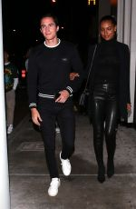 Jasmine Tookes and her boyfriend were seen leaving dinner at