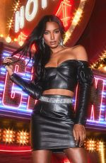 Jasmine Tookes At Boohoo All That Glitters Holiday Campaign 2019