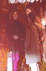 Jennifer Aniston As she meets up with her friends for dinner at the San Vicente Bungalows in West Hollywood