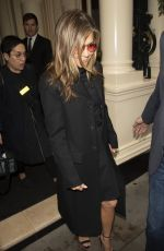 Jennifer Aniston Leaves her London hotel as she head to a Press Junket for the Morning Show