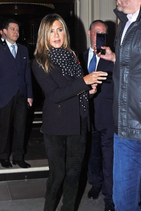 Jennifer Aniston Seen leaving her hotel in London