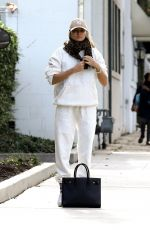 Jessica Hart Stays cozy in all white sweatsuit