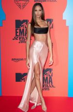 Joan Smalls At MTV European Music Awards FIBES Conference & Exhibition Centre Seville