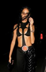 Joan Smalls Embodies Chili from TLC while attending Drake