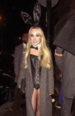 Jorgie Porter Attend the PLT Halloween Party at Whiskey Down in Manchester